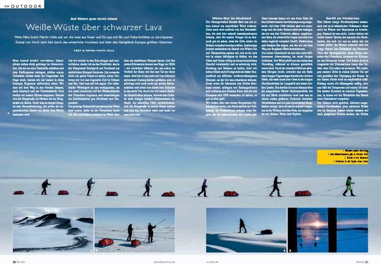 Outdoor Magazin Island Reportage