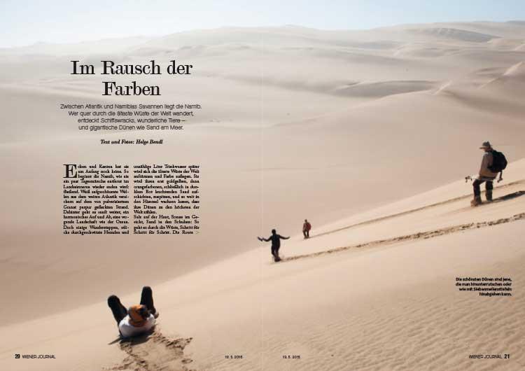Wiener Journal Namibiatrekking Reportage